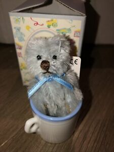"Gotta Getta Gund Bear 3"" Tiny Teddy Wishes NWT MOHAIR COLLECTION  With Tea Cup"