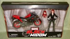 """BLACK WIDOW & MOTORCYCLE Ultimate Marvel Legends 2018 Deluxe 6"""" Action Figure"""