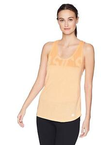 ASICS Women's Soft-Touch Racer Tank, Apricot Ice Heather, Large
