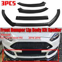 Carbono Labio Parachoques Delantero Cuerpo Kit Alerón Divisor Para Ford Focus Rs