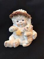 "Vintage Dreamsicles Angel Cherub 3-1/2"" Cast Art Figurine 'Love My Kitty' 1994"