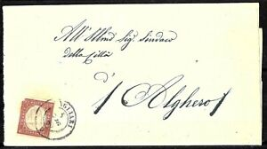 198 - ITALY - SARDEGNA - 1859 - FOLDED COVER  - TO CHECK, POSSIBLE FORGERY