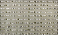 Newest Wholesale Lots 40pcs White Fashion Jewelry Stainless steel Rotation Rings