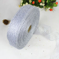 Glitter Ribbon Lace Christmas Xmas Tree Decor Wedding Party Ornament 200*5CM