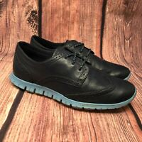 Cole Haan Zerogrand Women's Blue Leather Wingtip Oxford Shoes Size 6 B