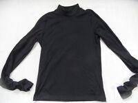 PUMA cooles Shirt mit Samtstreifen und Raffärmeln schwarz Gr. 40 NEU