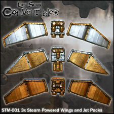 LAST STAND CONVERTIBLES STEAMPUNK BITS - 3x STEAM POWERED WINGS and PACKS