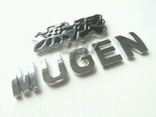 BLACK SILVER MUGEN POWER BADGE FOR HONDA CIVIC TYPE R HOT HATCH S2000 JAZZ