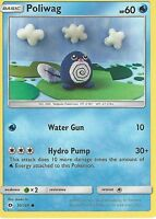 POKEMON SUN & MOON CARD: POLIWAG - 30/149
