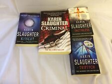 Karin Slaughter Novels x4 - Kisscut, Triptych, Faithless, Criminal - Good