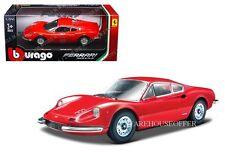 BBURAGO 1:24 W/B FERRARI RACE & PLAY FERRARI 246 GT DIECAST CAR 18-26015RD