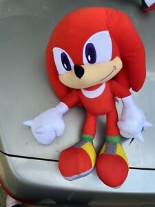 Sonic The Hedgehog Knuckles Soft Toy Bnwt Free Post