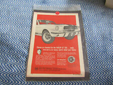 1966 Shelby Mustang Gt350 Magnum 500 Wheels Rims Motor Wheel Corp Color Ad