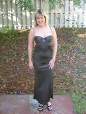 Brown Spaghetti Strap Evening Gown, S, from Victoria's Secret