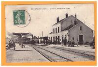 BUZANCAIS (36) TRAIN en GARE animée en 1908