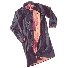 "Neese Rainwear 48"" Reversible Raincoat w/ Snap Collar - Blk/Orange - Size XL"