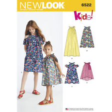 New Look Sewing Pattern 6522 Girls Tweens 3-14 Cold Shoulder Dress Top Inc Maxi