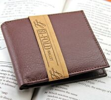 New Mens Slim Thin Bifold Genuine Leather Wallet ID Credit Card Billfold Holder