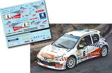 Decal 1:43 Enrique Garcia Ojeda - PEUGEOT 206 S1600 - Rally El Corte Ingles 2004