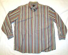 JOS A BANK Striped Pastel Long Sleeve Men Shirt button down dress casual MINT XL