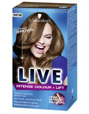 Schwarzkopf LIVE Intense Colour & Lift L54 Luminous Brown Pro Hair Colour Dye x1