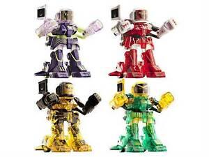 Tomy Battroborg Robots Special Bundle 4 Pack Figures NRFB Red,Purple,Gold,Green