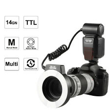 K&F Concept Flash Macro Anular KF-150N i-TTL + 6 Anillos de Adapdator para Nikon