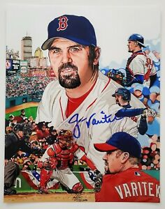Jason Varitek Signed 11x14 Metallic Photo Boston Red Sox World Series Champ RAD