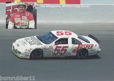 "1992 TED MUSGRAVE ""JASPER ENGINES"" #55 NASCAR WINSTON CUP POSTCARD"