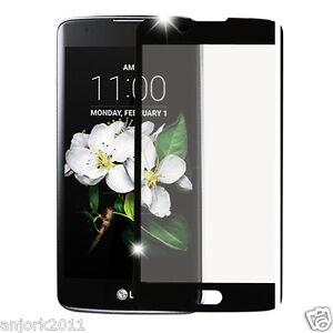 FULL COVERAGE TEMPERED GLASS SCREEN PROTECTOR FOR LG K7 / TRIBUTE 5 / ESCAPE 3