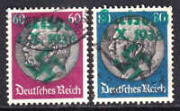 GERMANY 429-430 GREEN KARLSBAD OVERPRINTS CDS VF SOUND
