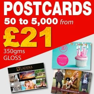 Postcards / Leaflets / Flyers A5, A6, A7 on 350gms Art Board Printed Full Colour