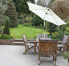 More details for garden table tilting parasol patio 2.7m crank handle sun umbrella lightweight