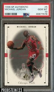 1998 SP Authentic #5 Michael Jordan CHICAGO BULLS HOF PSA 10 GEM MINT