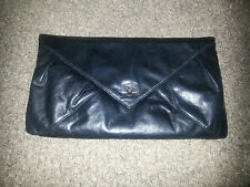 RUDSAK - Black Leather Clutch-Buttery Soft Leather-Gorgeous! Excellent Condition