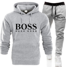 DE  Herren Trainingsanzug Set Hoodie Bottoms Trainingshose Jogging Sporthose