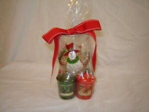 Yankee Candle Christmas Winter Theme Snowman With Four Candles