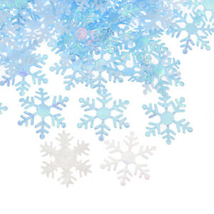 200x Polyester Non-woven Snowflake Appliques Craft Party Confetti Sew Decor DIY