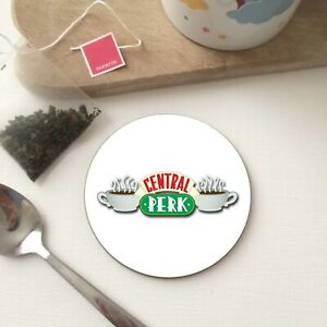 Retro CENTRAL PERK FRIENDS Tv Show inspired Tea Coffee Drink Gift - WOOD Coaster