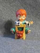 Goebel Germany 4.5 inch Ceramic Figurine The Kibitzer Redhead Boy Byj 23