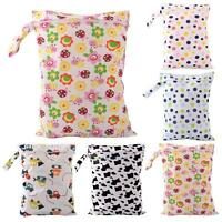 SN9F Baby Diaper Bags Character Print Changing Wet Bag Baby Cloth Diapers