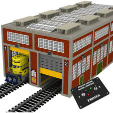 O Gauge Modern Engine House w/Motorized Doors, Indoor/Outdoor Lighting