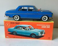 ICHIKO JAPAN BATTERY OPERATED TINPLATE MERCEDES 250 SE 1960s MYSTERY ACTION +BOX