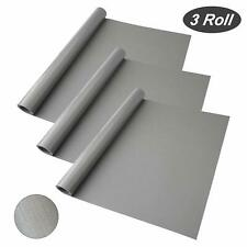 Shelf Drawer Liner Kitchen Cabinets 3 Rolls Non Adhesive Mats 59 x 17.7 Grey
