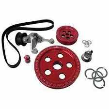 VW Beetle Bus CB Performance RED Serpentine Belt Pulley System CB1888RD//10