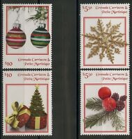GRENADA GRENADINES  2017  CHRISTMAS ORNAMENTS  SET OF FOUR MINT  NH
