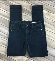 Zara Mid Rise Skinny Blue Washed Denim Jeans Womens Size  4