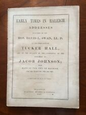 RARE 1867 Address on Early Times in Raleigh, North Carolina, 3 Foldout MAPs, 1st