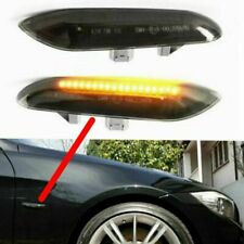 2x LED Black Side Marker Turn Signal Light For BMW M E88 E60 E61 E90 E91 E92 E93