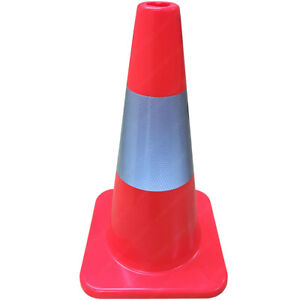 """Traffic Cones - Road Safety - Orange - 18 to 36"""" Heights - Electriduct"""